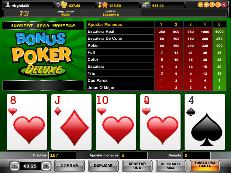 Bonus Poker Deluxe Mobile