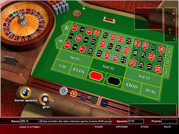 European Roulette: 1c - 1€/$