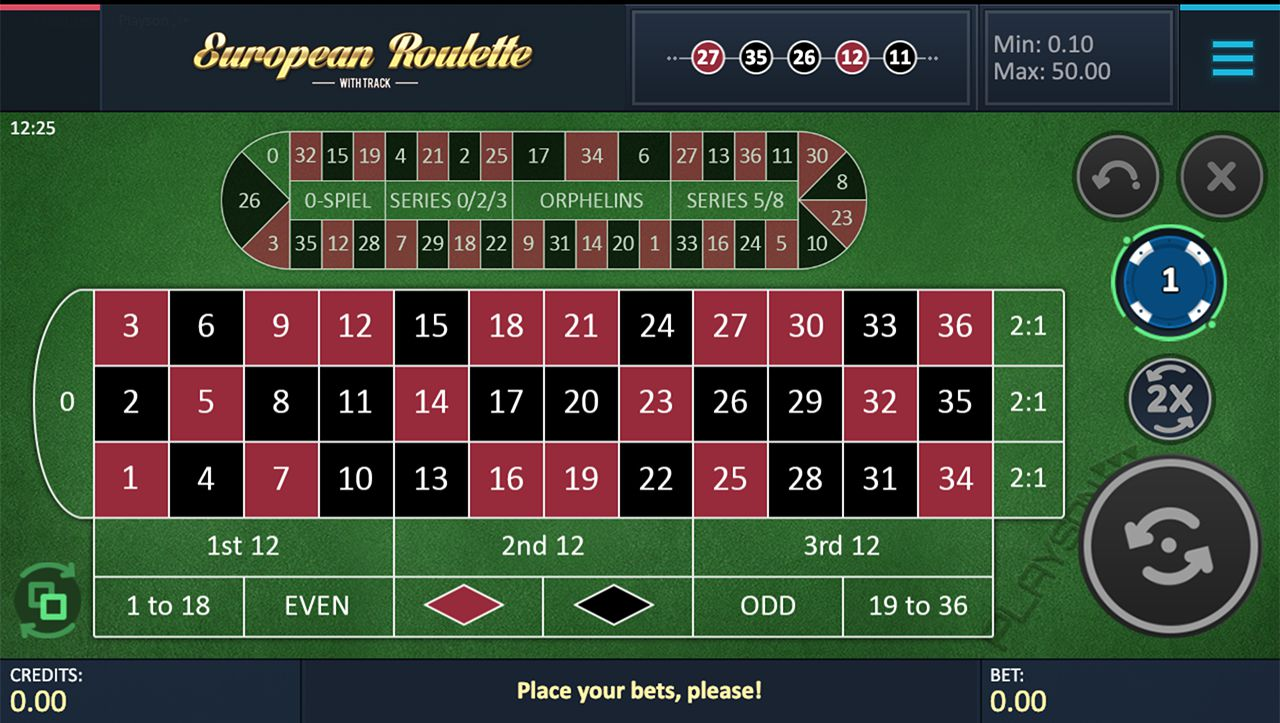 Roulette with Track (min 10c)