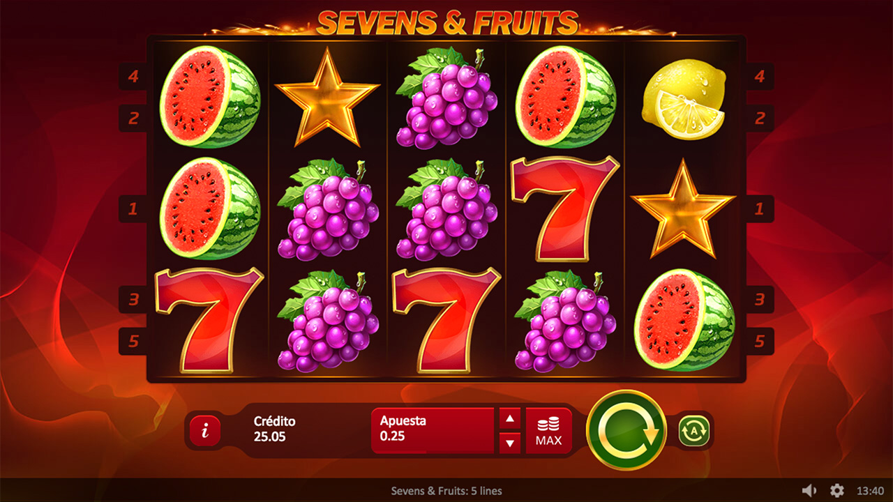 Sevens & Fruits 5 Lines