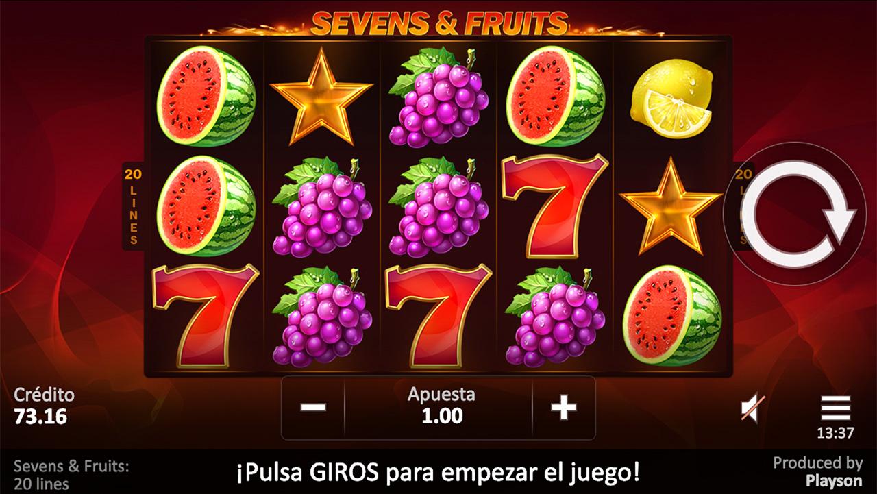 Sevens & Fruits 20 Line