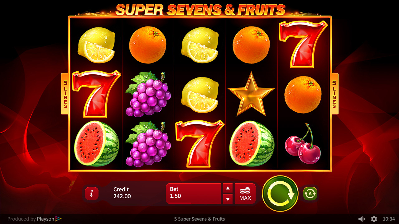 Super Sevens & Fruits 5 Lines